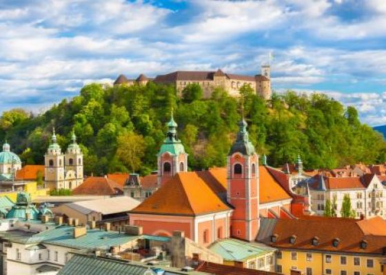 Regular city tour: Historical city centre and Ljubljana Castle