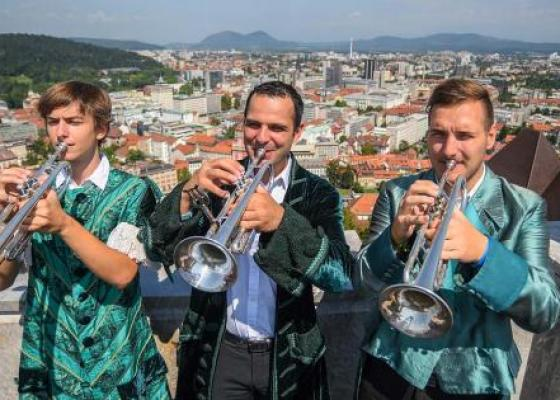 Performances by the Ljubljana Fanfare Trumpeters